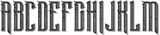 BlackWidow TextureAndShadow otf (900) Font UPPERCASE