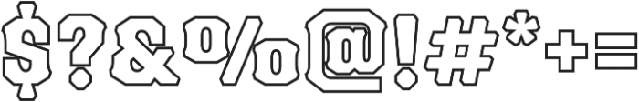 Blackberry Two otf (900) Font OTHER CHARS