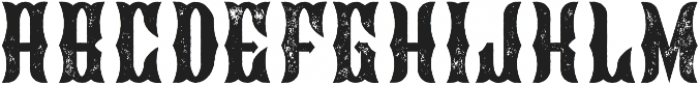Blackburn Aged otf (900) Font UPPERCASE