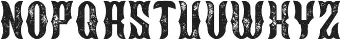 Blackburn Aged otf (900) Font LOWERCASE