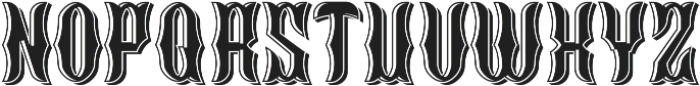 Blackburn LightAndShadow otf (300) Font LOWERCASE