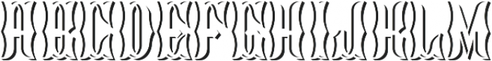 Blackburn LightAndShadowFX otf (300) Font LOWERCASE