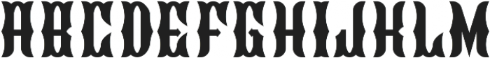 Blackburn Regular otf (900) Font UPPERCASE