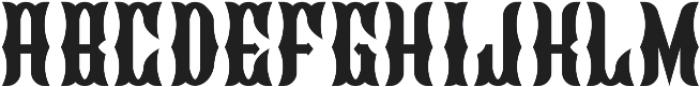 Blackburn Regular otf (900) Font LOWERCASE