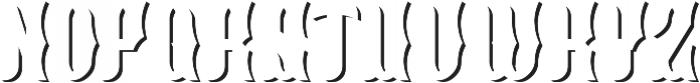 Blackburn ShadowFX otf (900) Font UPPERCASE