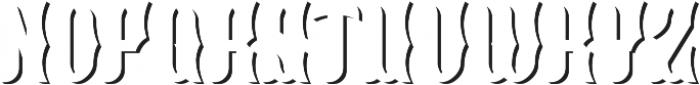 Blackburn ShadowFX otf (900) Font LOWERCASE