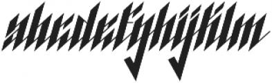 Blackburn otf (900) Font LOWERCASE