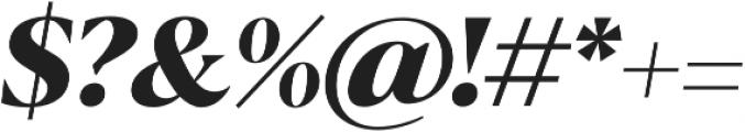 Blacker Display ExtraBold Italic otf (700) Font OTHER CHARS