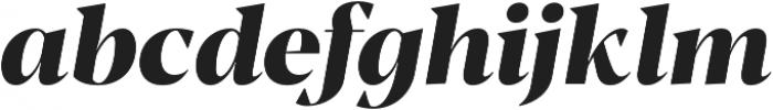 Blacker Display ExtraBold Italic otf (700) Font LOWERCASE