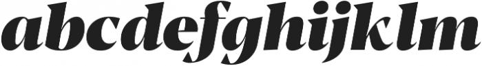 Blacker Display Heavy Italic otf (800) Font LOWERCASE