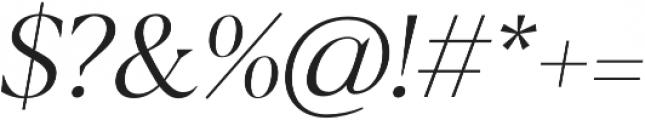 Blacker Display Light Italic otf (300) Font OTHER CHARS