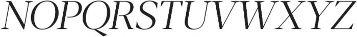 Blacker Display Light Italic otf (300) Font UPPERCASE