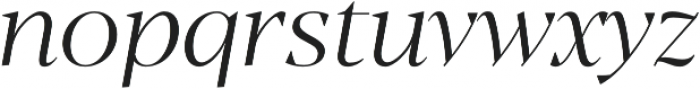 Blacker Display Light Italic otf (300) Font LOWERCASE