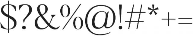 Blacker Display Light otf (300) Font OTHER CHARS