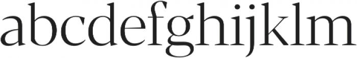 Blacker Display Light otf (300) Font LOWERCASE