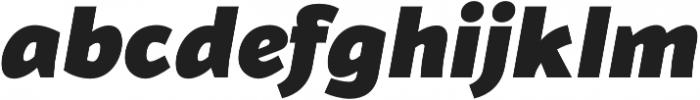 Blacker Sans Black Italic otf (900) Font LOWERCASE
