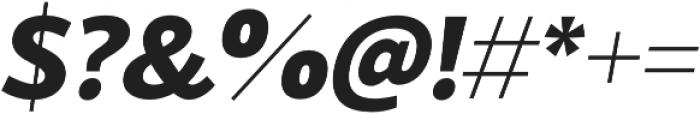 Blacker Sans Extrabold Italic otf (700) Font OTHER CHARS