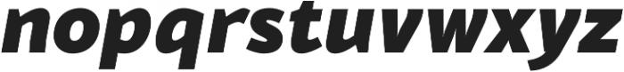 Blacker Sans Heavy Italic otf (800) Font LOWERCASE