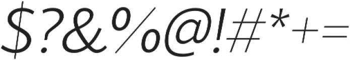 Blacker Sans Light Italic otf (300) Font OTHER CHARS