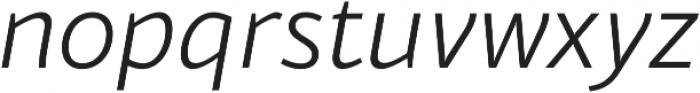 Blacker Sans Light Italic otf (300) Font LOWERCASE