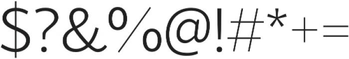 Blacker Sans Light otf (300) Font OTHER CHARS