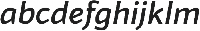 Blacker Sans Medium Italic otf (500) Font LOWERCASE