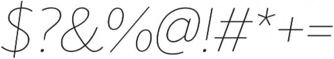 Blacker Sans Thin Italic otf (100) Font OTHER CHARS