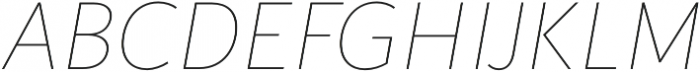 Blacker Sans Thin Italic otf (100) Font UPPERCASE