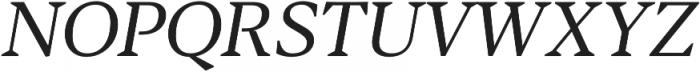 Blacker Text Book Italic otf (400) Font UPPERCASE