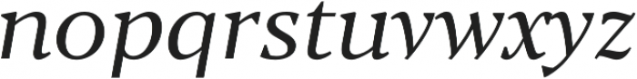 Blacker Text Book Italic otf (400) Font LOWERCASE