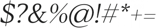 Blacker Text Light Italic otf (300) Font OTHER CHARS