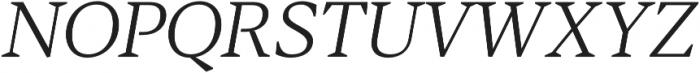 Blacker Text Light Italic otf (300) Font UPPERCASE