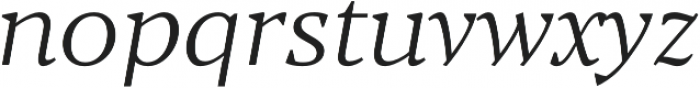 Blacker Text Light Italic otf (300) Font LOWERCASE
