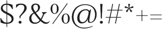 Blacker Text Light otf (300) Font OTHER CHARS