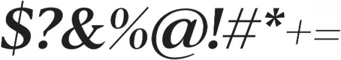 Blacker Text Medium Italic otf (500) Font OTHER CHARS