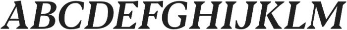 Blacker Text Medium Italic otf (500) Font UPPERCASE