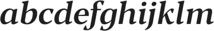 Blacker Text Medium Italic otf (500) Font LOWERCASE