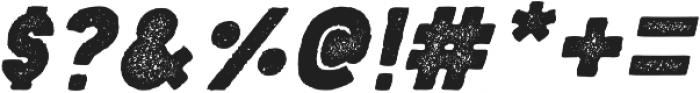 Blackout Noon Italic otf (900) Font OTHER CHARS