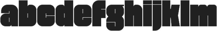 Blackout Sans otf (900) Font LOWERCASE