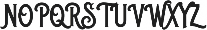 Blackriver Bold otf (700) Font UPPERCASE