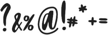 Blacktear Script otf (900) Font OTHER CHARS