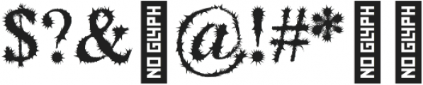 Blackthorn otf (900) Font OTHER CHARS
