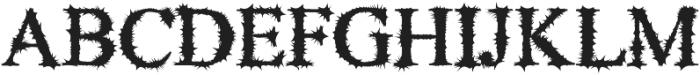 Blackthorn otf (900) Font UPPERCASE