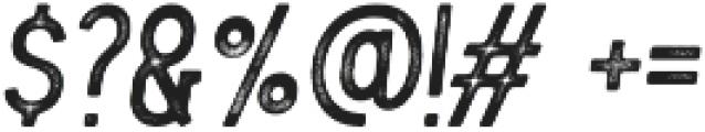 Blackwood rough Italic otf (900) Font OTHER CHARS