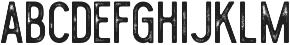 Blackwood rough otf (900) Font LOWERCASE