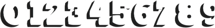 Blacky shadow Regular otf (900) Font OTHER CHARS