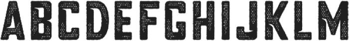 Blakstone Halftone Three otf (400) Font UPPERCASE