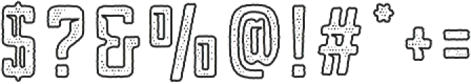 Blakstone Outline Halftone otf (400) Font OTHER CHARS