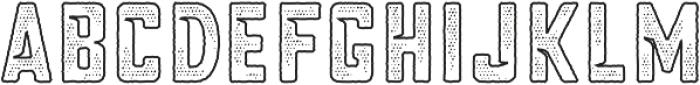 Blakstone Outline Halftone otf (400) Font UPPERCASE