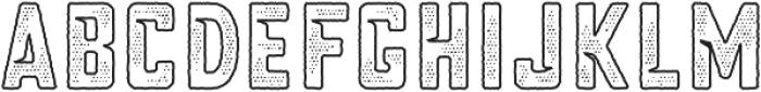 Blakstone Outline Halftone otf (400) Font LOWERCASE